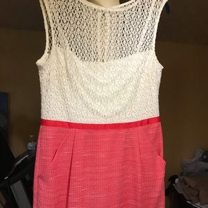 Women's dress coral/ivory